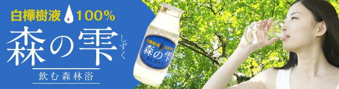 白樺樹液ドリンク 森の雫