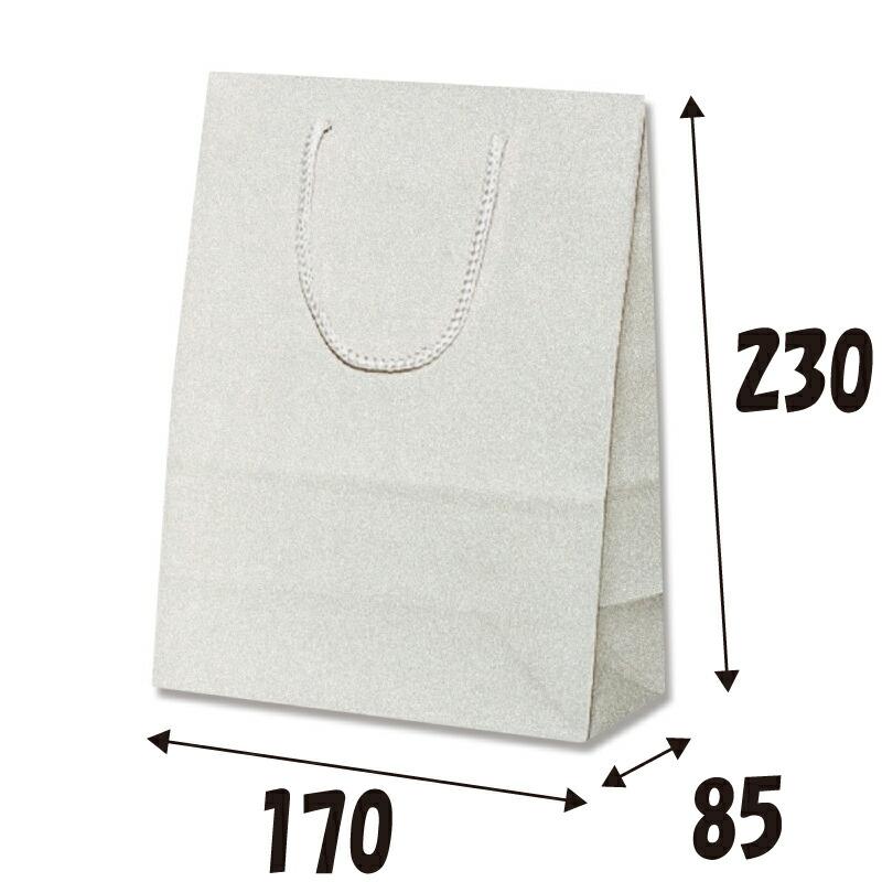 紙袋 グリッターバッグ T-3 シルバー