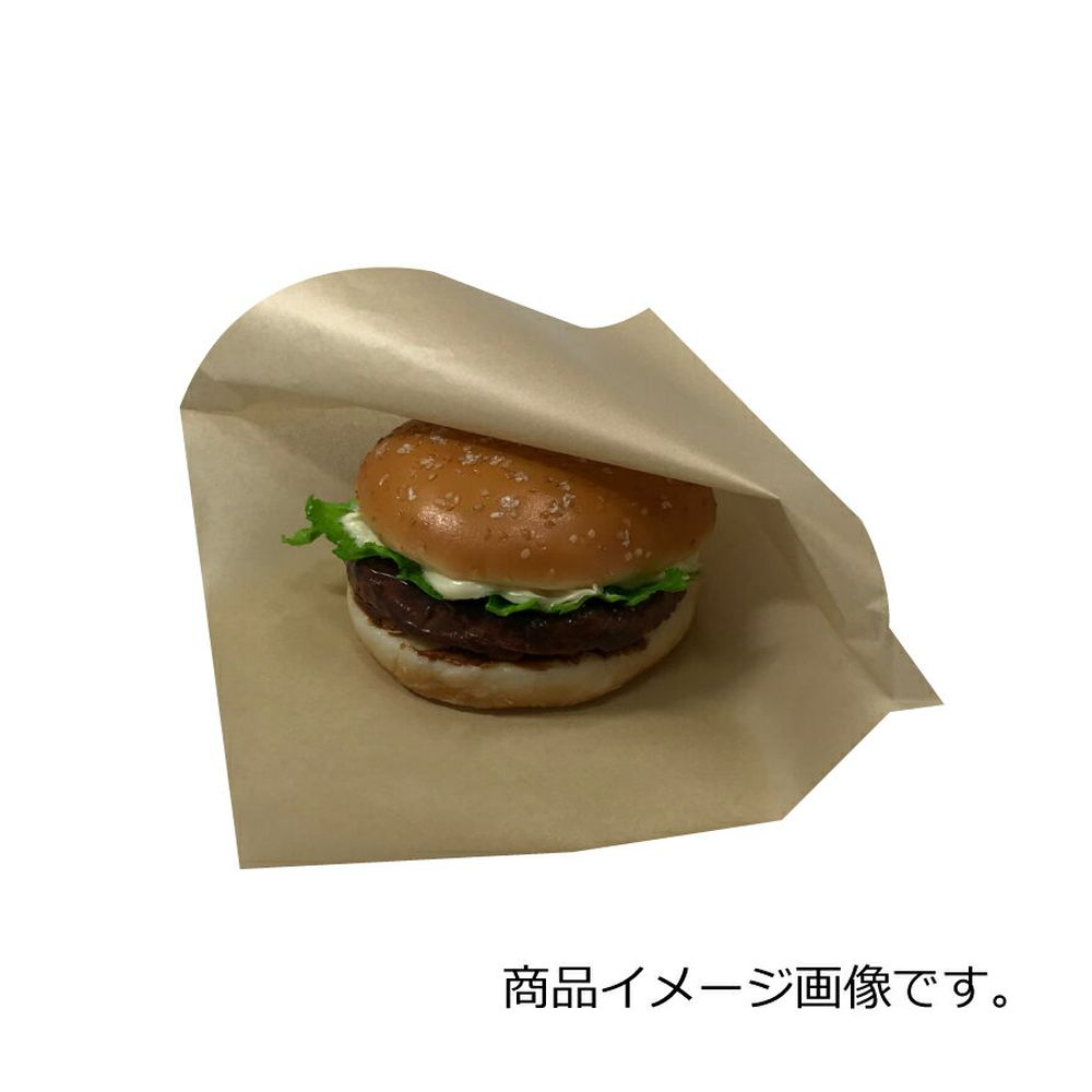 バーガー袋 NO.18 未晒無地