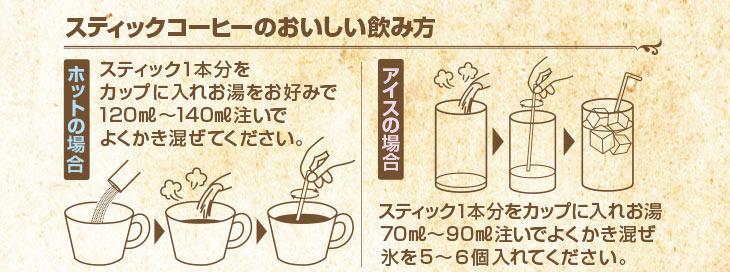 スティックコーヒーお召し上がり方