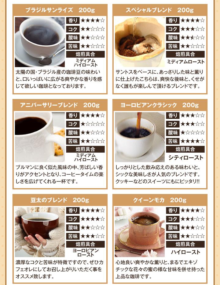 レギュラーコーヒーのラインナップ