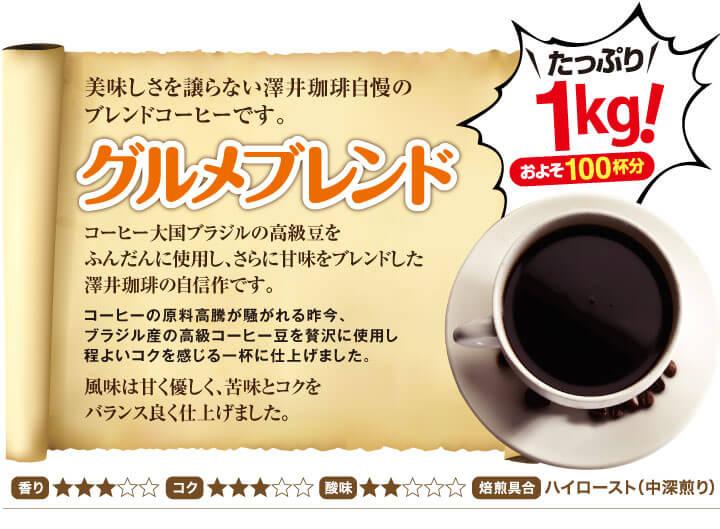 美味しさを譲らない澤井珈琲自慢のブレンドコーヒーです