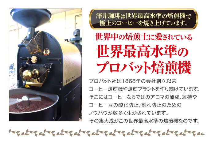 世界最高水準のプロバット焙煎機