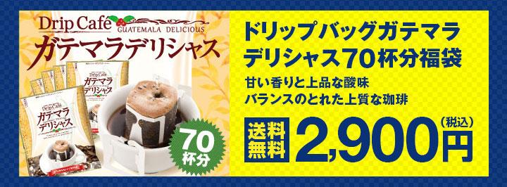 ドリップバッグガテマラデリシャス70杯分福袋