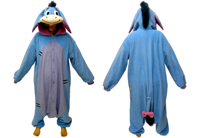 1593c4b5ea0a scarlet  Kigurumi Costume-Adult Disney Eeyore fleece