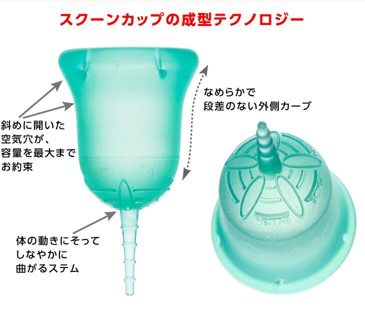 【スクーンカップの成型テクノロジー】●斜めに開いた空気穴が容量を最大までお約束●なめらかで段差のない外側カーブ●体の動きにそってしなやかに曲がるステム