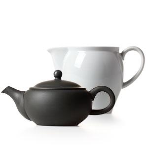 急須、湯冷まし、茶葉