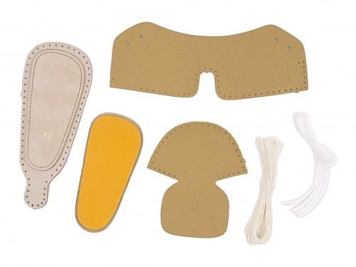 女の子男の子キッズベビー子供靴手作りファーストシューズキットスニーカー本革ラコraco858キャメル