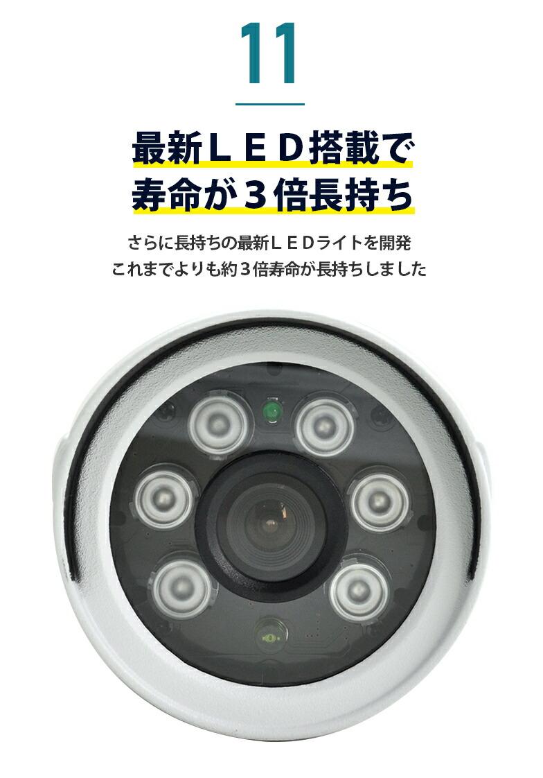 11 最新LED搭載で寿命が3倍長持ち