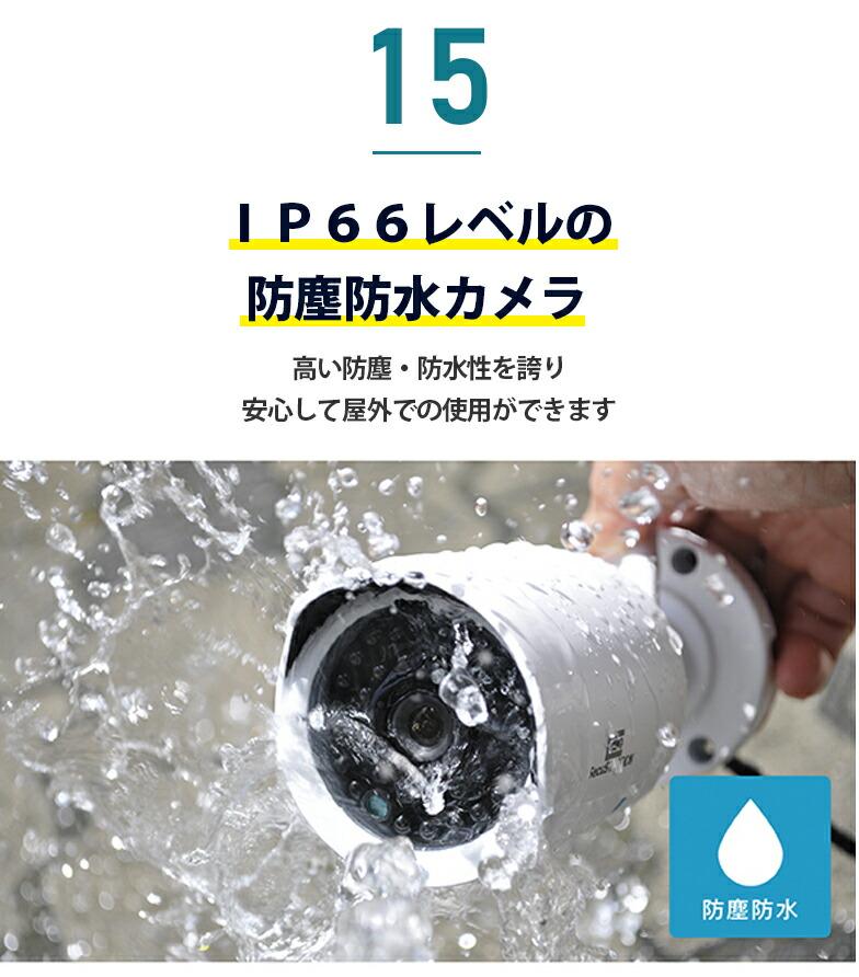 15 IP66レベルの防塵防水