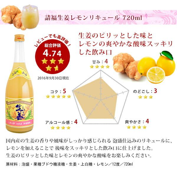 生姜レモンリキュール