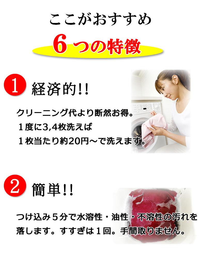 ここがおすすめ 6つの特徴 1.経済的!2.簡単!