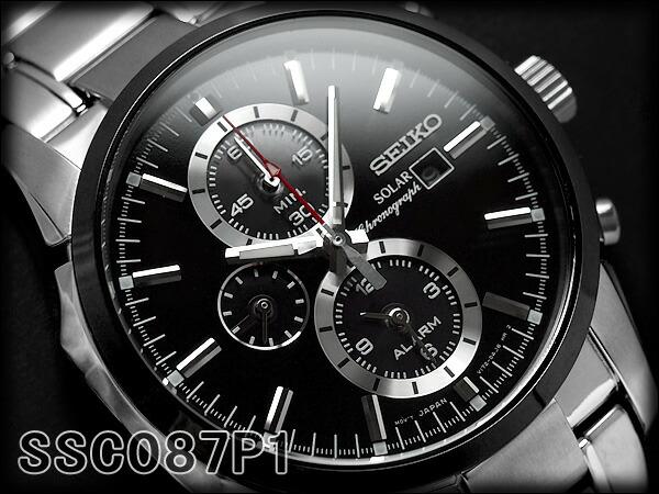 Seiko Specialty Store 3s Seiko Men S Alarm Chronograph Solar Watch