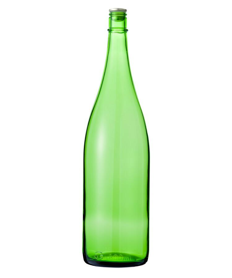 日元汇率_GLASS BOTTLE SHOP: 玻璃瓶酒瓶清酒1800-EG(1升瓶)E绿色1800ml sake bottle ...