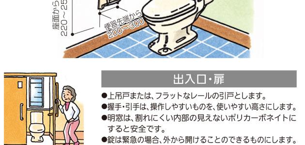 浴室・洗面所用手すり