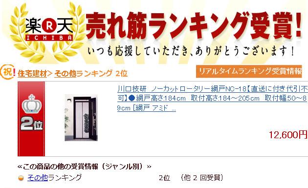 リアルタイムランキング受賞