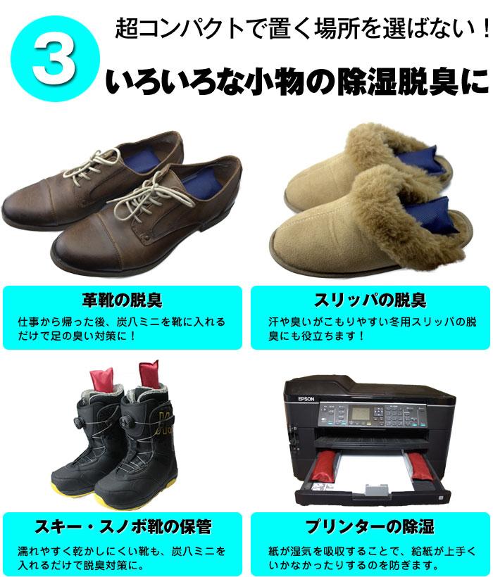 炭 炭八 湿気対策 靴