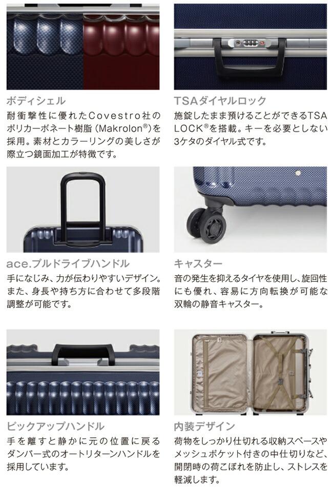 エース トーキョー パリセイド-F スーツケース ace. TOKYO Palisades-F