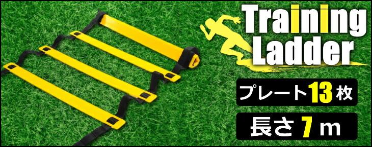 トレーニングラダー サッカー/フットサル トレーニング 敏捷性 7m プレート13枚 イエロー/ブラック 7m 13枚 黄/黒 ラダートレーニング