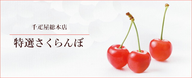 果物老舗 千疋屋総本店 さくらんぼ