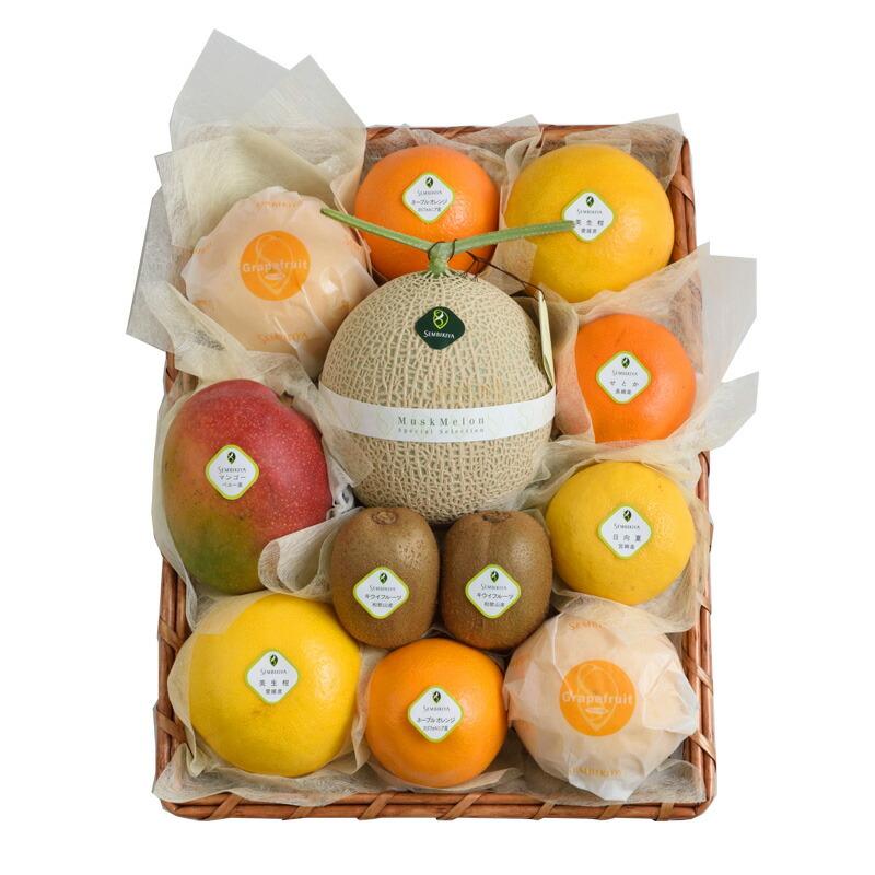 季節の果物詰合(6) かご入¥22,356