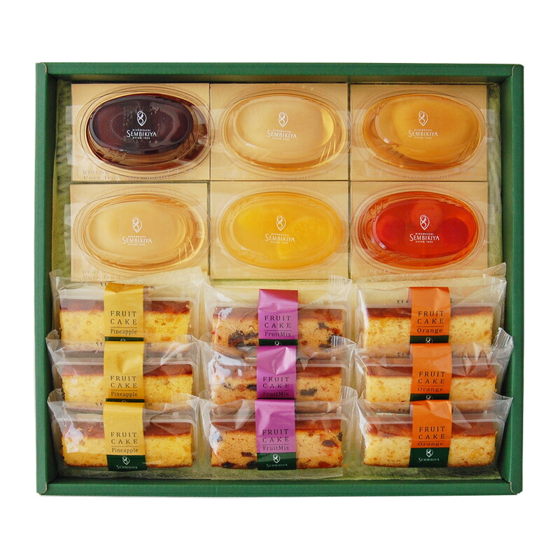 フルーツケーキ9個・ピュアフルーツジェリー6個 詰合¥5,400