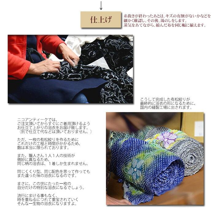 ◆個性派着物と浴衣の呉服屋さん ニコアンティーク 楽天 ゆかた ユカタ にこあんていーく 有松絞り ありまつ しぼり