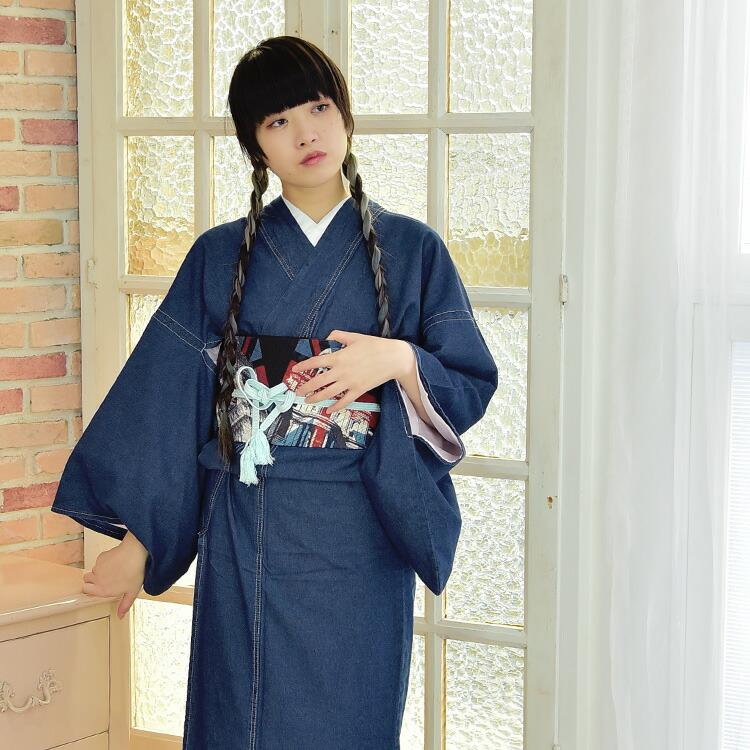 個性派ゆかたと着物のレトロな和服屋ニコアンティーク可愛い浴衣ときものはにこあんてぃーくで