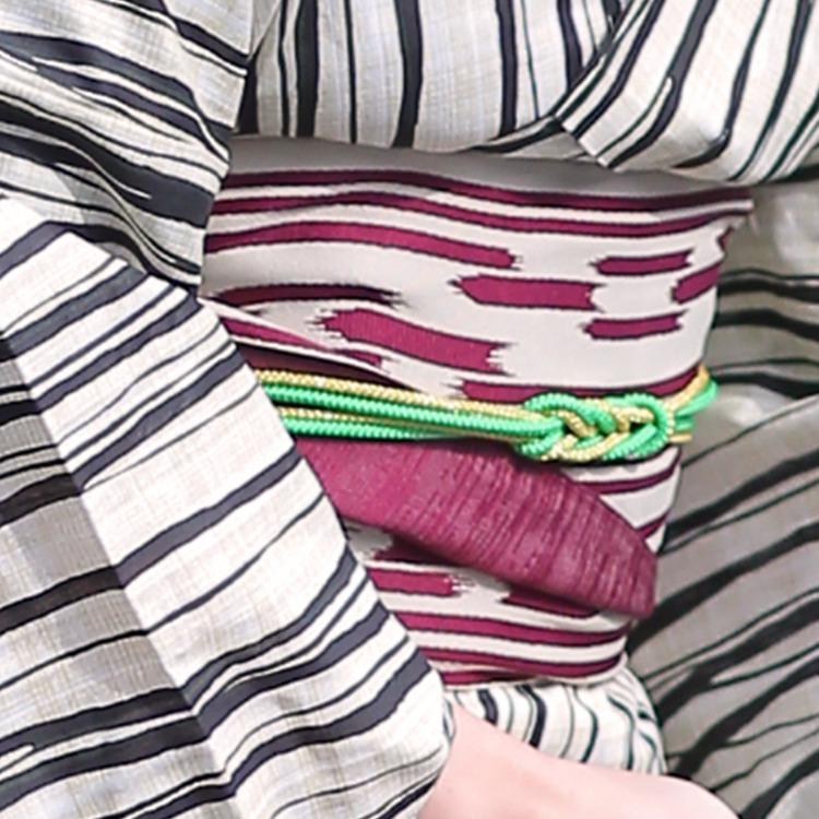 個性派着物と浴衣の和服さん ニコアンティーク 楽天 ゆかた ユカタ にこあんていーく 綿麻 特選 デパート品質 リネン 高級 変わり織り れとろ 個性的  ■商品画像3枚目