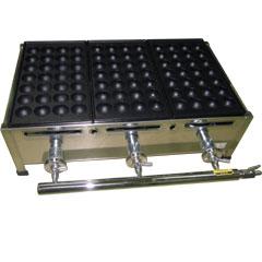 千田オリジナル ガスたこ焼き器 鉄板3丁セット