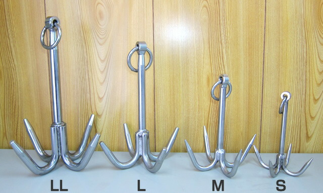 ステンレス製 スバル スマル 【海底に沈んだ漁具回収する道具】