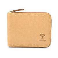 ALBERO(アルベロ)NATURE(ナチュレ)小銭入れ付き二つ折り財布(ラウンドファスナー式)  5369