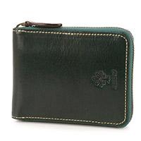 ALBERO(アルベロ) OLD MADRAS(オールドマドラス) 小銭入れ付き二つ折り財布(ラウンドファスナー式) 6525