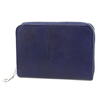 BAGGY PORT(バギーポート) 藍染めレザー カード入れ付きコインケース ZYS-089