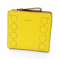 genten(ゲンテン) カプリス 小銭入れ付き二つ折り財布 42651