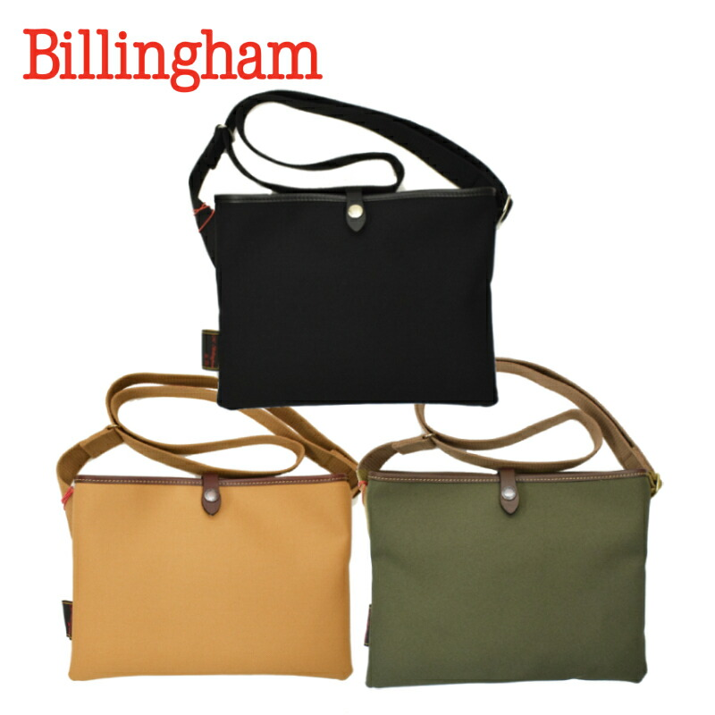 【10/25 UPLOAD】<br>【3 COLORS】BILLINGHAM(ビリンガム) SACOCHE FLAT SHOULDER BAG(サコッシュ フラット ショルダーバッグ) RUBBER BONDING COTTON