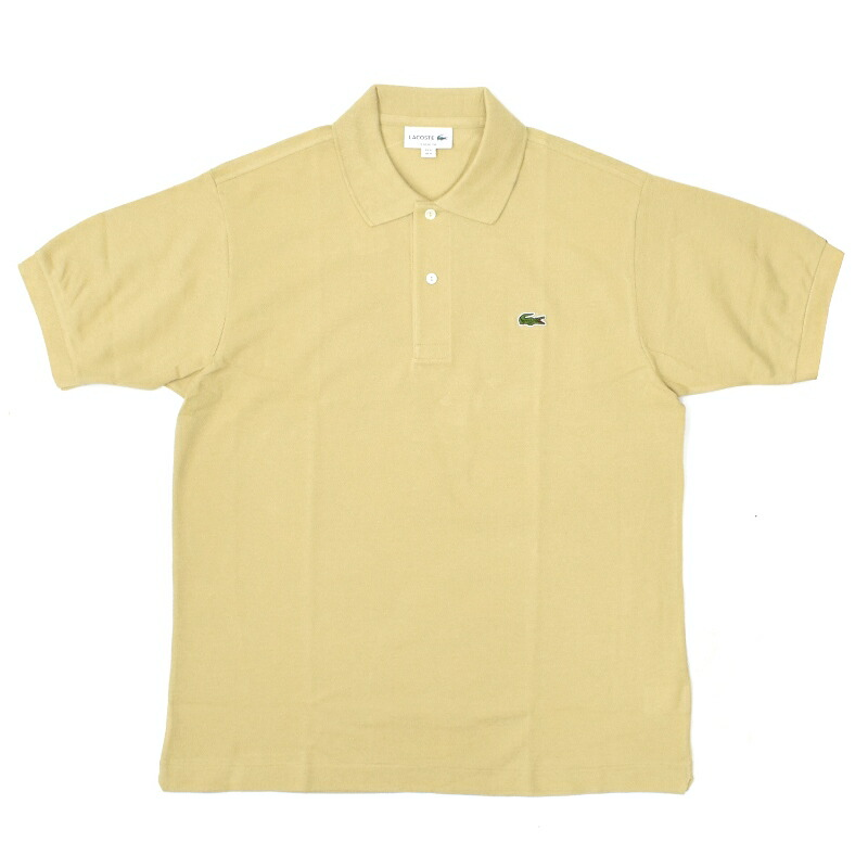 【5/3 UPLOAD】<br>FRANCE LACOSTE(直輸入フランスラコステ) #L1212 S/S PIQUE POLOSHIRTS(半袖 鹿の子 ポロシャツ) BEIGE(02S)