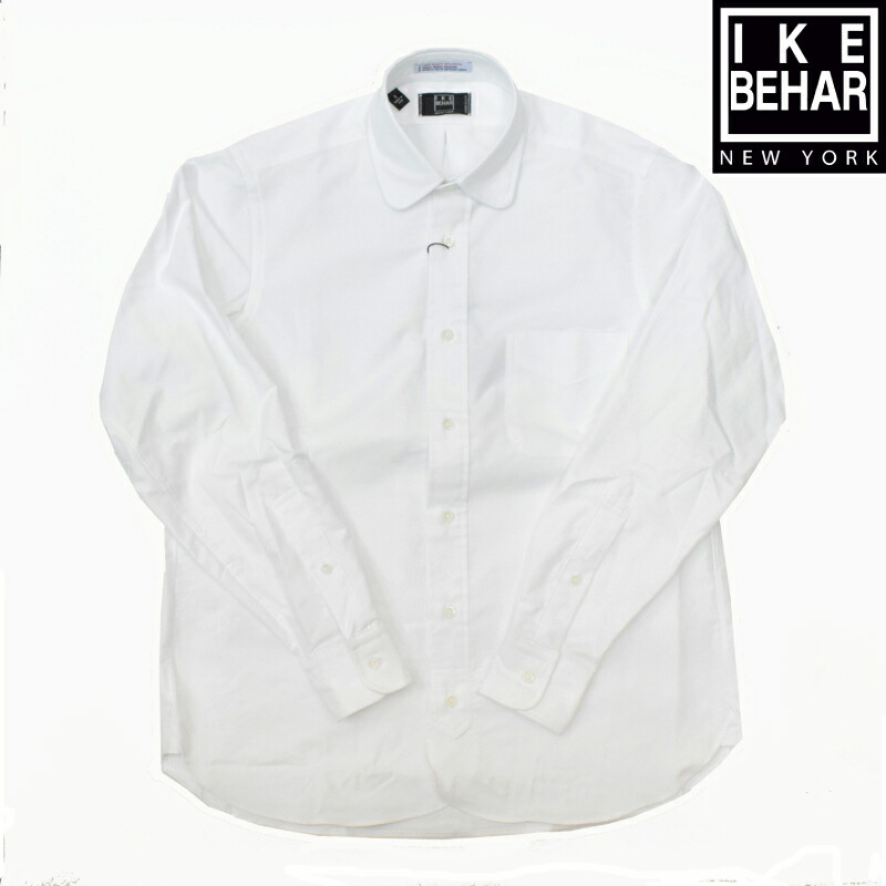 【1/16 UPLOAD】<br>IKE BEHAR(アイク ベーハー) L/S ROUND COLLAR SHIRTS(長袖ラウンドカラーシャツ) OXFORD(オックスフォード) GARLAND