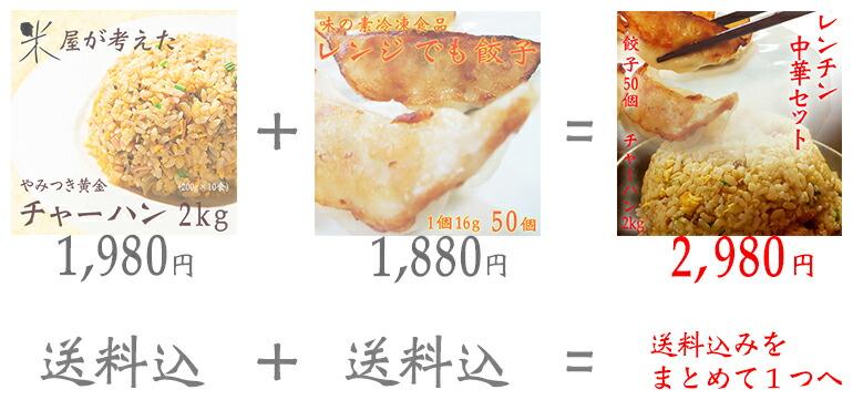 餃子+チャーハンセット説明1