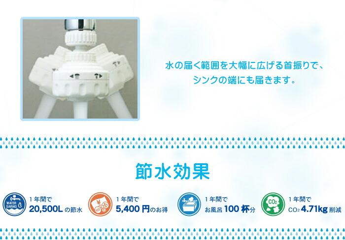 首振り節水キッチンシャワー HV-203SV