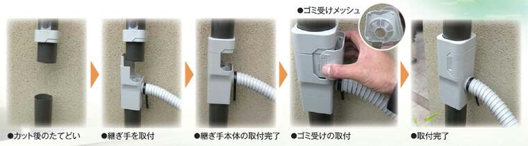 集水器の設置方法