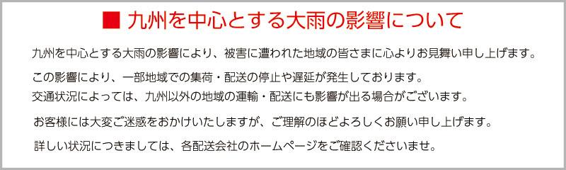 九州大雨の影響について
