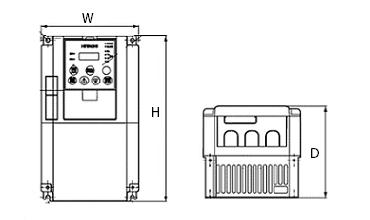 SJ700シリーズの図面です