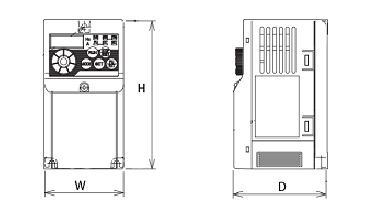 FREQROL-D700シリーズの図面です
