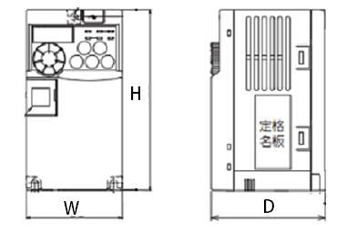 FREQROL-E700シリーズの図面です