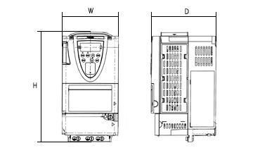 VF-AS1シリーズの図面です