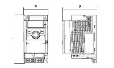 VF-nC3シリーズの図面です