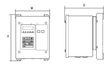 V1000シリーズの図面です