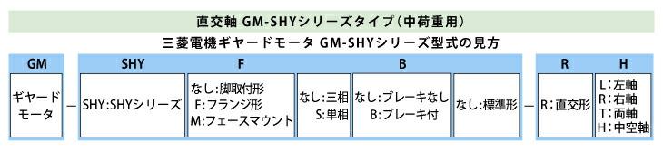 三菱ギヤードGM-SHY型式見方