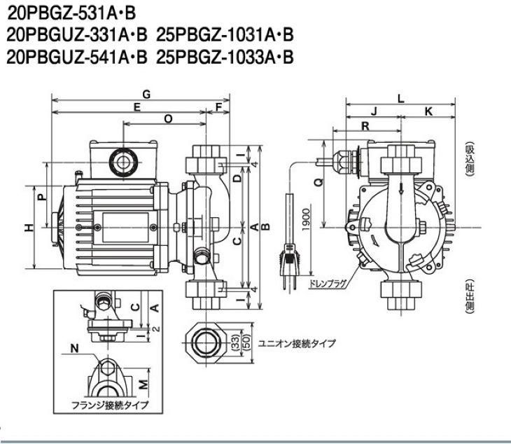 PBGZ型外形図